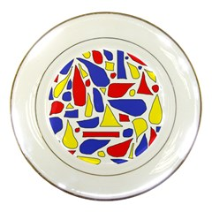 Silly Primaries Porcelain Display Plate