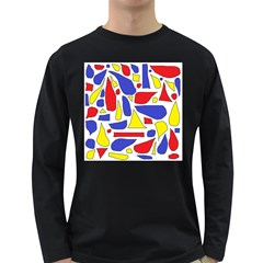Silly Primaries Men s Long Sleeve T-shirt (Dark Colored)