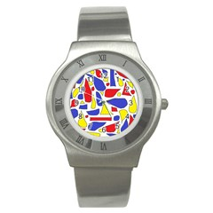 Silly Primaries Stainless Steel Watch (Slim)