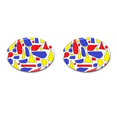 Silly Primaries Cufflinks (Oval)