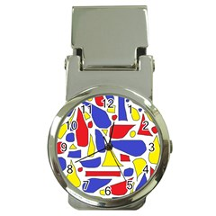 Silly Primaries Money Clip with Watch