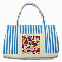 Silly Primaries Blue Striped Tote Bag