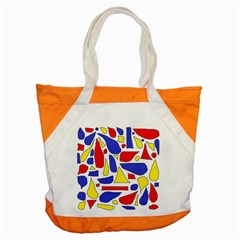 Silly Primaries Accent Tote Bag