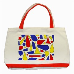 Silly Primaries Classic Tote Bag (Red)