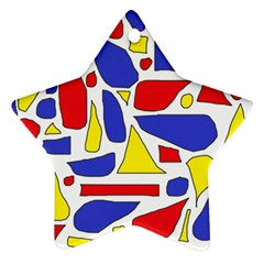 Silly Primaries Star Ornament (two Sides)