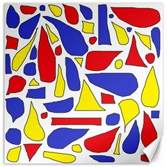 Silly Primaries Canvas 20  x 20  (Unframed)