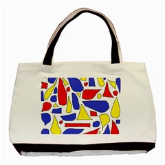 Silly Primaries Twin-sided Black Tote Bag