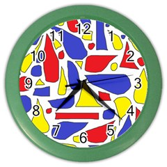 Silly Primaries Wall Clock (color)