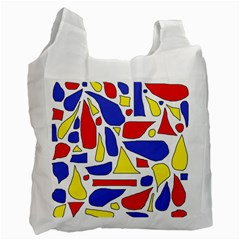 Silly Primaries White Reusable Bag (two Sides)