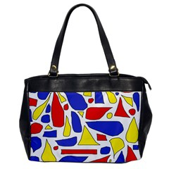 Silly Primaries Oversize Office Handbag (one Side)