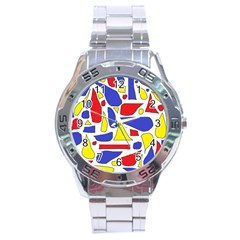 Silly Primaries Stainless Steel Watch