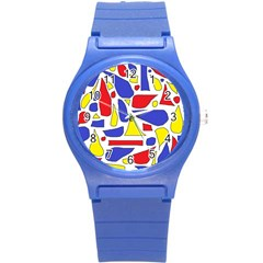 Silly Primaries Plastic Sport Watch (small)