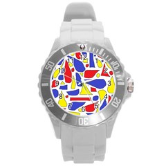Silly Primaries Plastic Sport Watch (large)