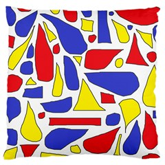 Silly Primaries Large Cushion Case (Single Sided)
