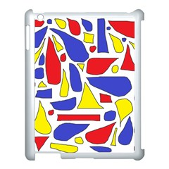 Silly Primaries Apple iPad 3/4 Case (White)
