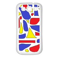 Silly Primaries Samsung Galaxy S3 Back Case (White)
