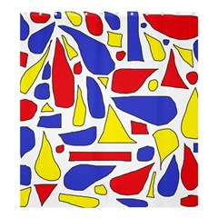 Silly Primaries Shower Curtain 66  x 72  (Large)