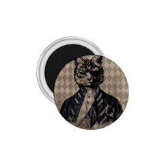 Harlequin Cat 1 75  Button Magnet
