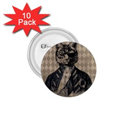Harlequin Cat 1.75  Button (10 pack)
