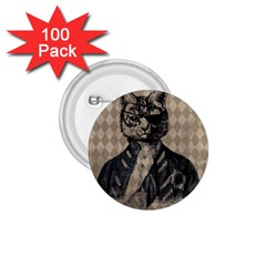Harlequin Cat 1.75  Button (100 pack)