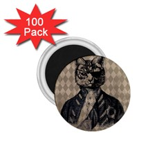 Harlequin Cat 1.75  Button Magnet (100 pack)