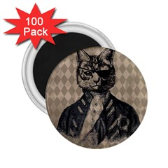 Harlequin Cat 2.25  Button Magnet (100 pack)