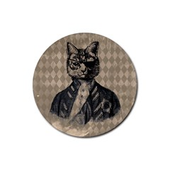 Harlequin Cat Drink Coasters 4 Pack (Round)