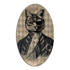 Harlequin Cat Magnet (Oval)