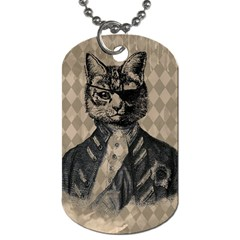 Harlequin Cat Dog Tag (One Sided)