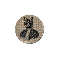 Harlequin Cat Golf Ball Marker