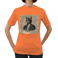 Harlequin Cat Women s T-shirt (Colored)