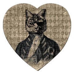 Harlequin Cat Jigsaw Puzzle (Heart)
