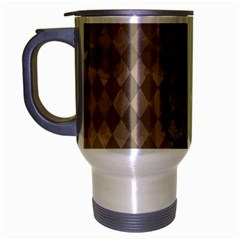 Harlequin Cat Travel Mug (Silver Gray)