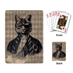 Harlequin Cat Playing Cards Single Design