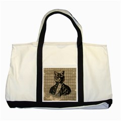 Harlequin Cat Two Toned Tote Bag