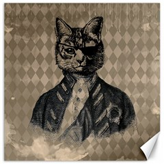 Harlequin Cat Canvas 16  x 16  (Unframed)