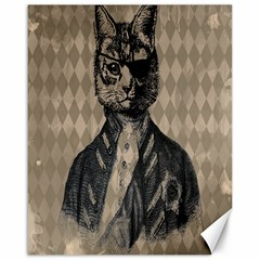 Harlequin Cat Canvas 16  x 20  (Unframed)