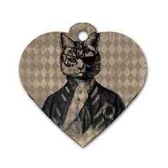 Harlequin Cat Dog Tag Heart (Two Sided)