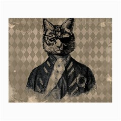 Harlequin Cat Glasses Cloth (Small, Two Sided)
