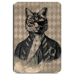 Harlequin Cat Large Door Mat