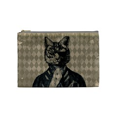 Harlequin Cat Cosmetic Bag (medium)