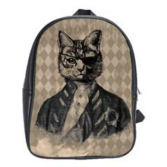 Harlequin Cat School Bag (Large)
