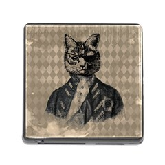 Harlequin Cat Memory Card Reader With Storage (square)