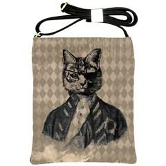 Harlequin Cat Shoulder Sling Bag