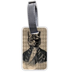 Harlequin Cat Luggage Tag (Two Sides)