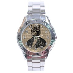 Harlequin Cat Stainless Steel Watch
