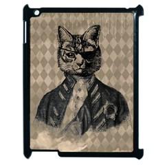 Harlequin Cat Apple Ipad 2 Case (black)