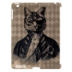 Harlequin Cat Apple iPad 3/4 Hardshell Case (Compatible with Smart Cover)