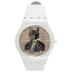 Harlequin Cat Plastic Sport Watch (Medium)
