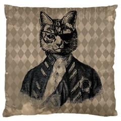 Harlequin Cat Large Cushion Case (Single Sided)